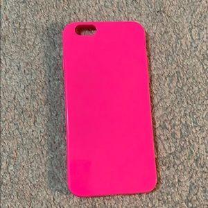 Bright / hot pink iPhone 6 phone case